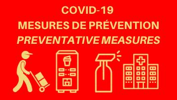 COVID-19 – Service Pause Café MAT inc. Mesures de prévention/ Prevention measures