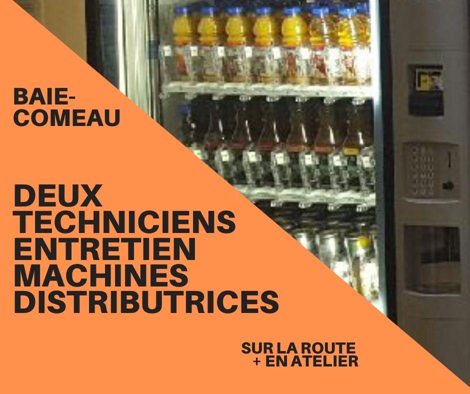 Offre d'emploi (Nouveau 2020) – Baie Comeau – Deux techniciens d'entretien de machines distributrices